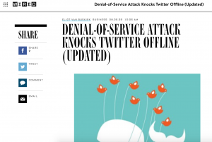Article discussing 2009 ddos attack on Twitter